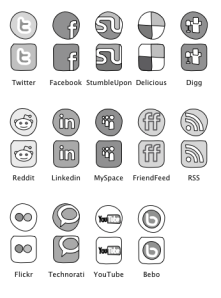 Preview of Web Sketch Social Media Badges stencil